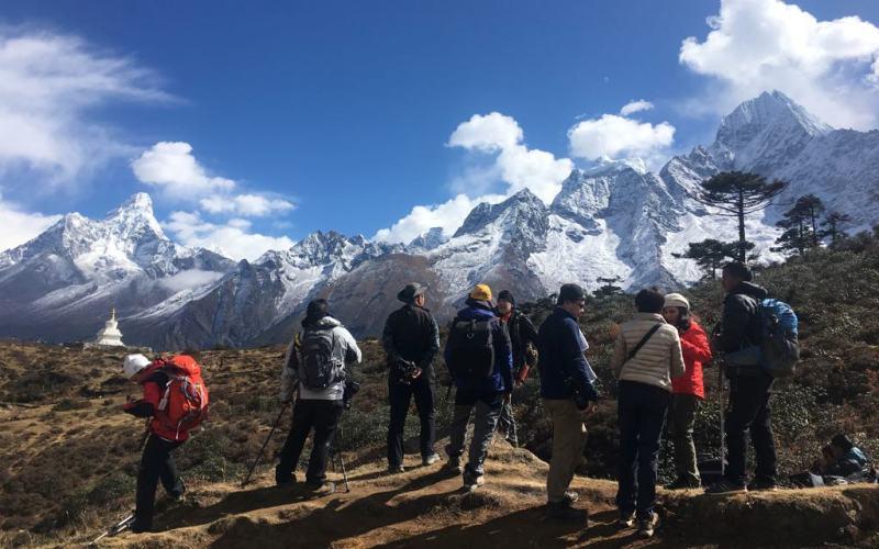 Sernior citizens Everest base camp Trek