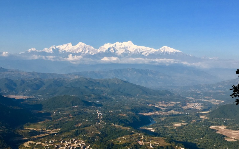 Mt Manaslu range from Bandipur